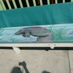 Manatee painting on seat