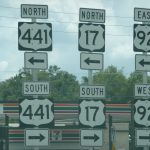 Road signs driving in the USA