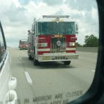 Fire Truck on highway