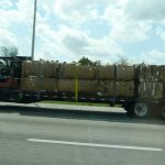 recyling being transported