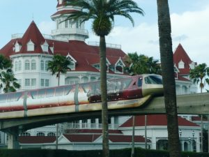 Resort hotel with monorail